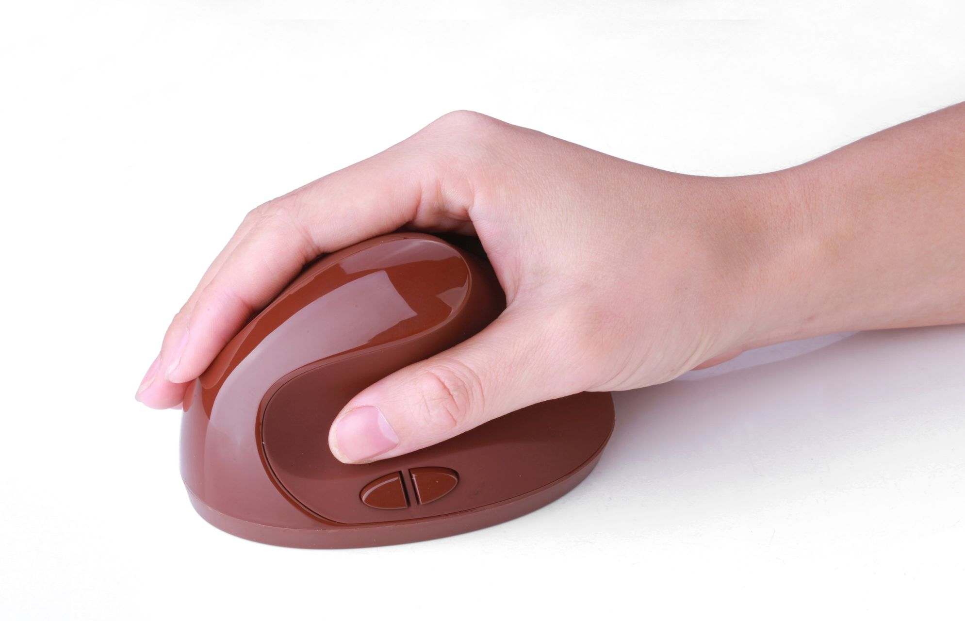 comodus medical rf mouse brown with hand